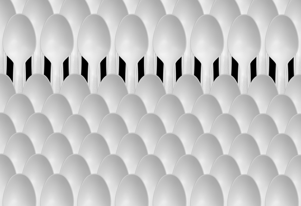 A piece of fine art art photography titled Spoons Abstract: Audience by Jacqueline Hammer