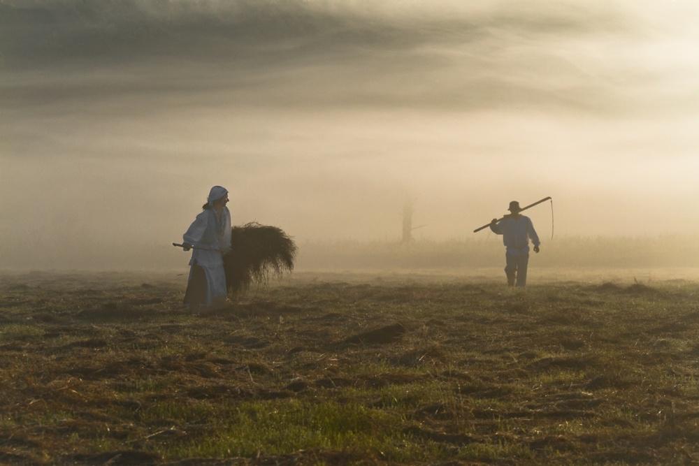 A piece of fine art art photography titled Work at Dawn by Leszek Paradowski