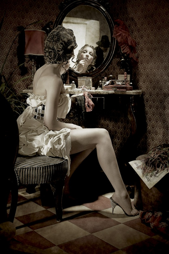 A piece of fine art art photography titled The Last Evening Dress by aleba