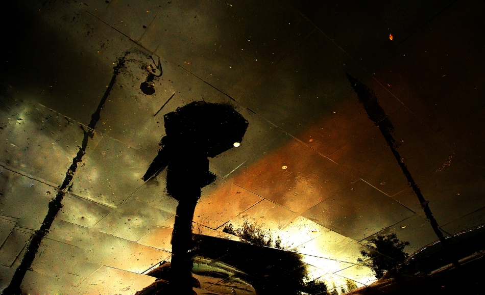 A piece of fine art art photography titled Coloured Rain by Fulvio Pellegrini
