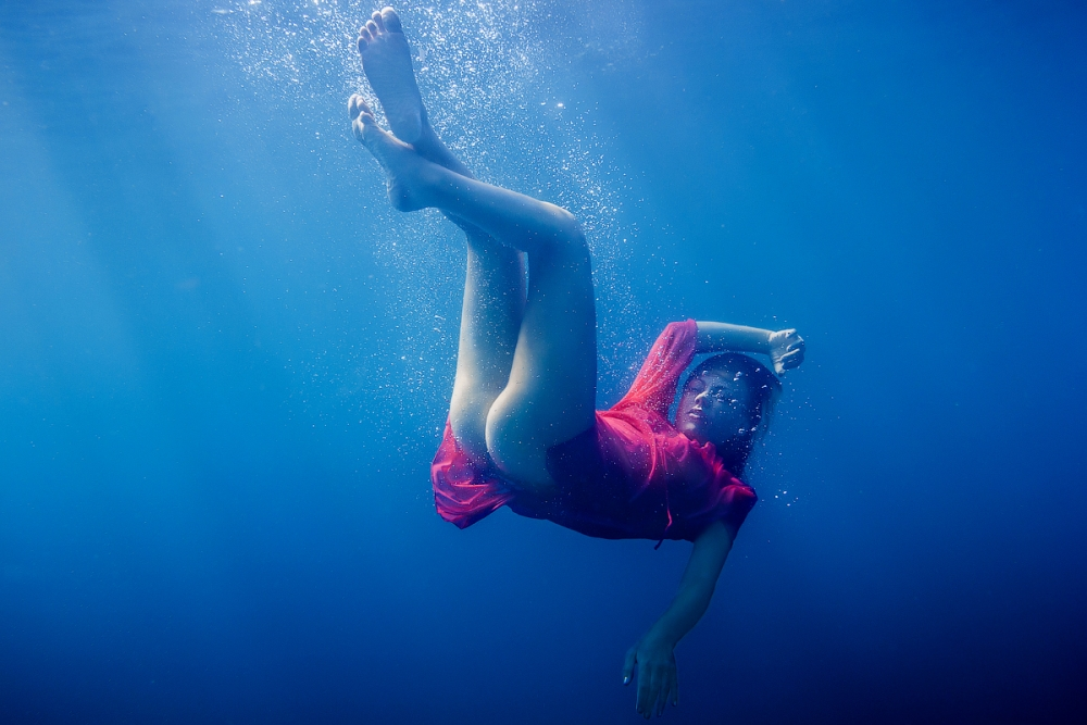 A piece of fine art art photography titled Blue Water by Arti Firsov