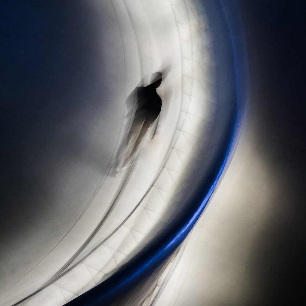 A piece of fine art art photography titled Blue Line by dong hee HAN