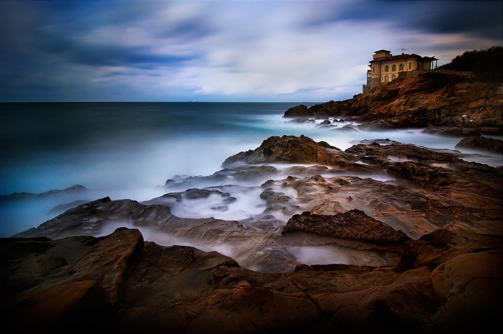 A piece of fine art art photography titled Tuscan Coast - Calafuria by Antonio Grambone