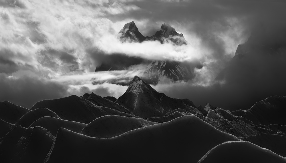 A piece of fine art art photography titled Glacier Tower by FEI SHI