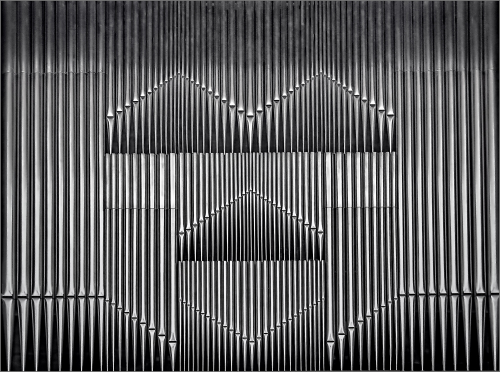 A piece of fine art art photography titled Organ Pipes by Herbert A. Franke