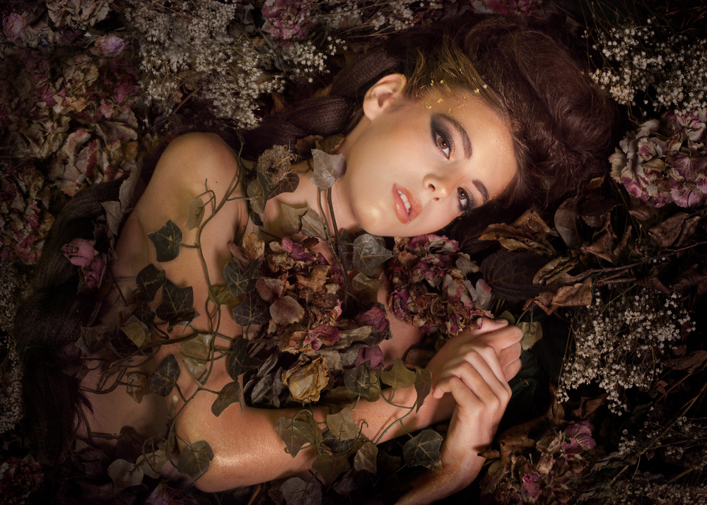 A piece of fine art art photography titled Overgrown Beauty by Patricia Wouterse