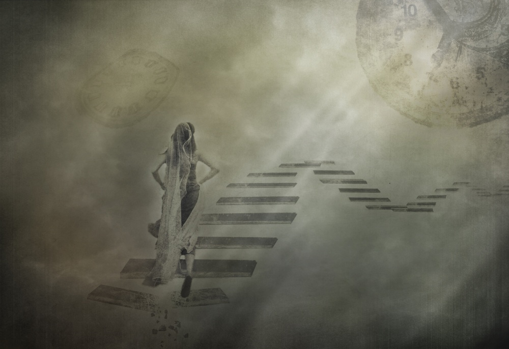 A piece of fine art art photography titled Ladder of Life by ummi zaluna