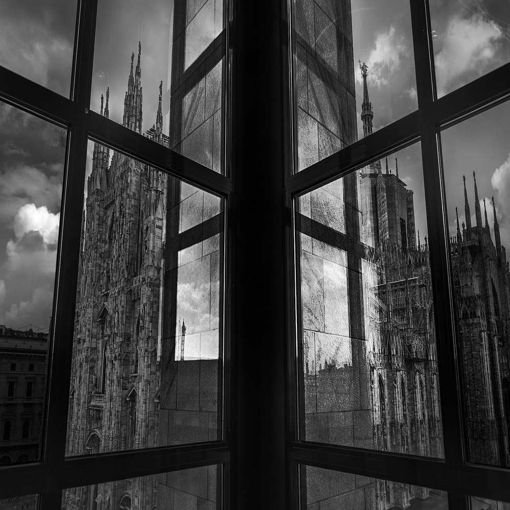 window on Milan