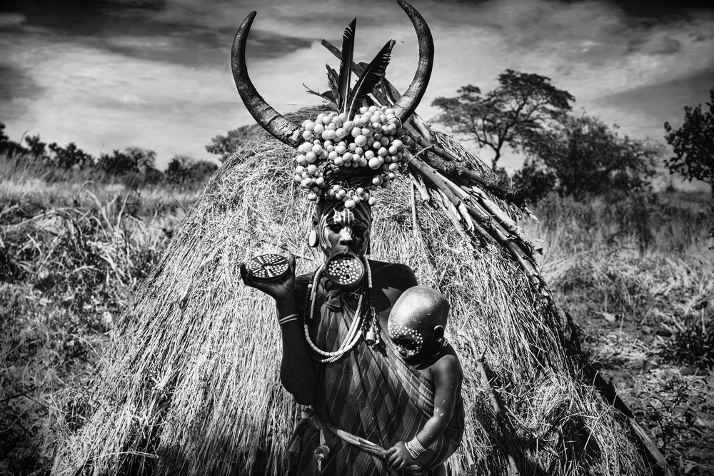 A piece of fine art art photography titled Mursi Village-Omo by Svetlin Yosifov
