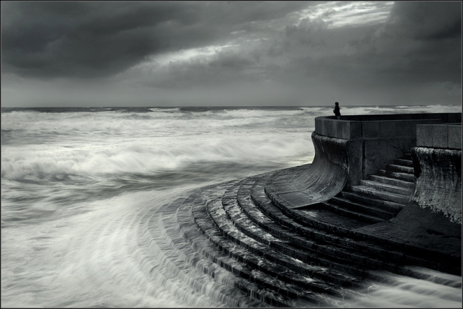 A piece of fine art art photography titled Storm  Watcher by Nuno Milheiro