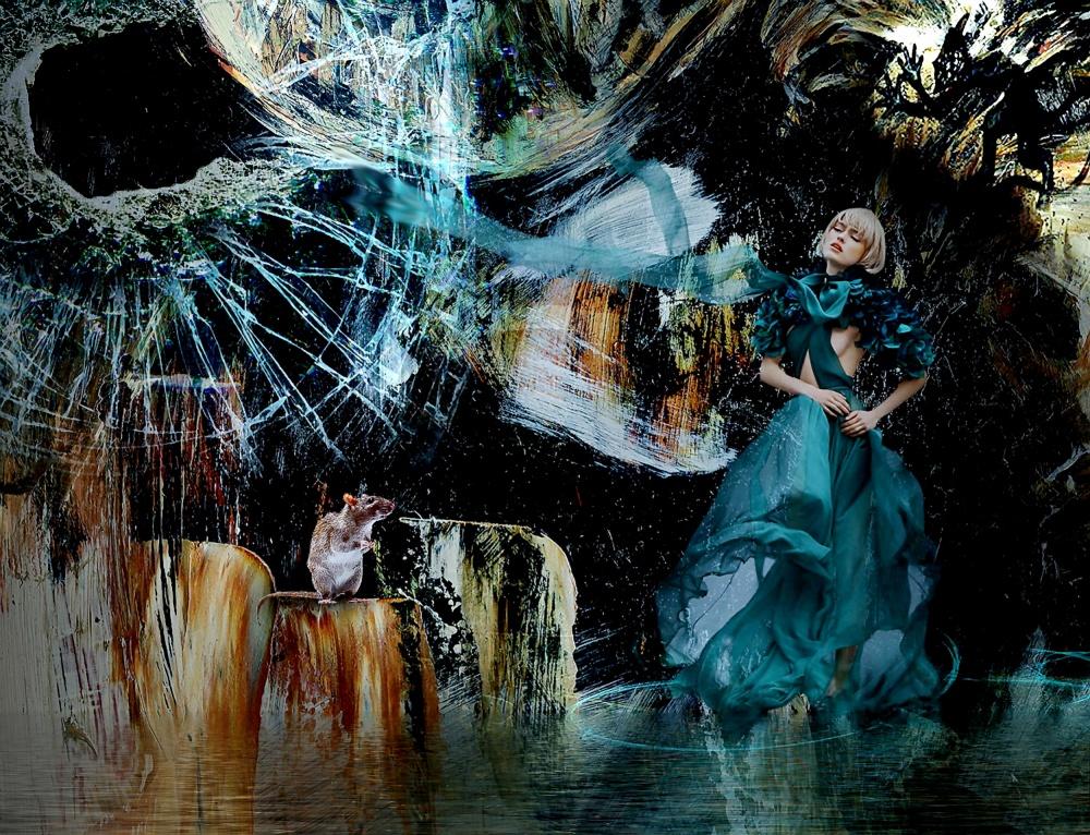 A piece of fine art art photography titled  Rat   Jealousy by Natalia Simongulashvili   ( NATALIORION )