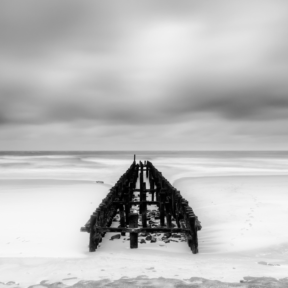 A piece of fine art art photography titled Groynes De Domburg by Jan Teeuwen