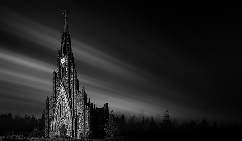 A piece of fine art art photography titled Cathedral of Stone by Jackson Carvalho