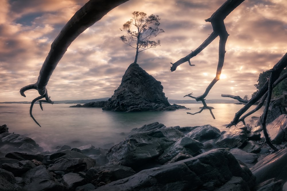 View this piece of fine art photography titled Sunrise at Mordor by Ole Nielsen