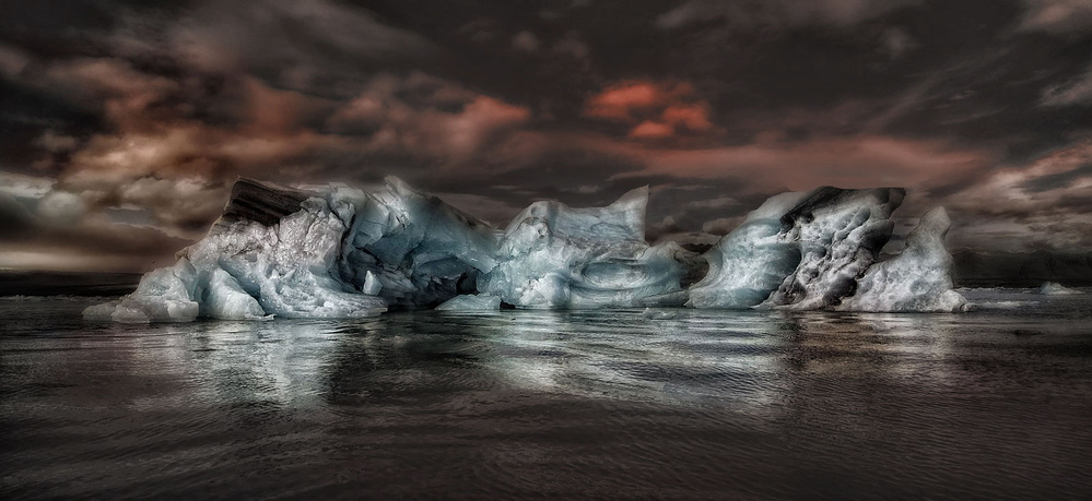 A piece of fine art art photography titled Ice by Amador Funes