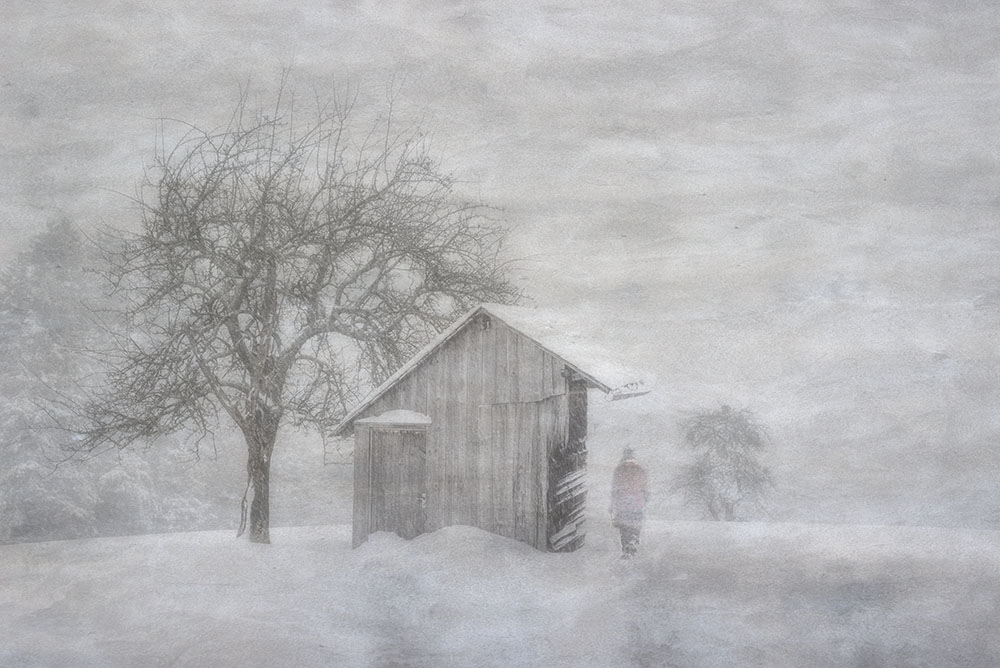 A piece of fine art art photography titled Schneelandschaft by Silvana Lingg