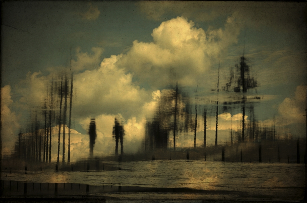 A piece of fine art art photography titled Touching the Silence by Anja Buehrer