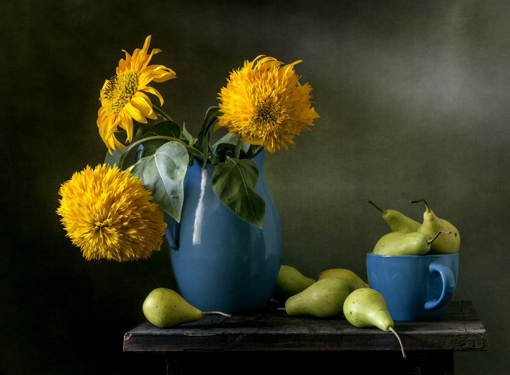 View this piece of fine art photography titled Sunflowers by Jon  Kinney