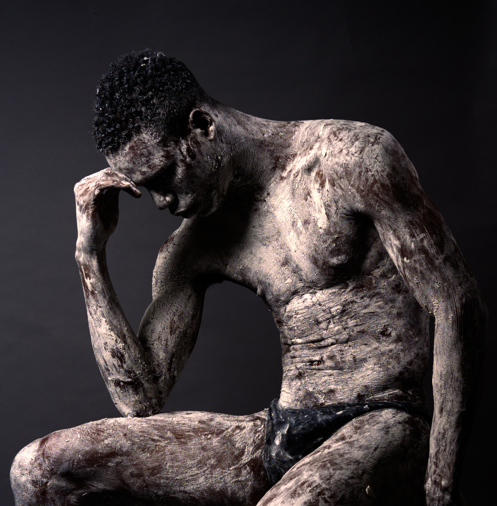 A piece of fine art art photography titled The Thinker by renco hatenboer