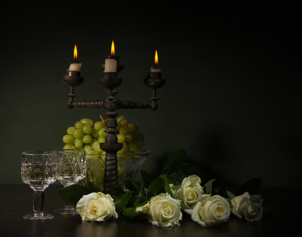 A piece of fine art art photography titled Romantic Still-life by magnola