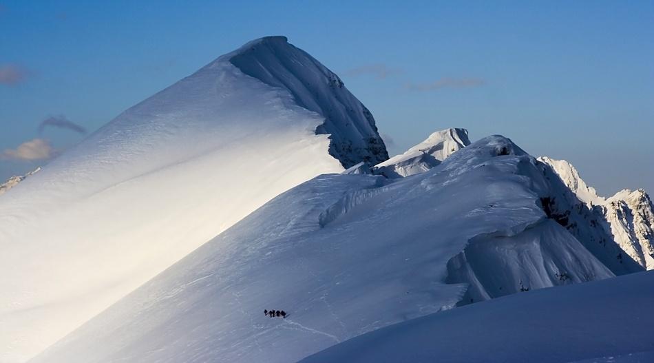A piece of fine art art photography titled Towards the Summit by Zoran Veljanovic