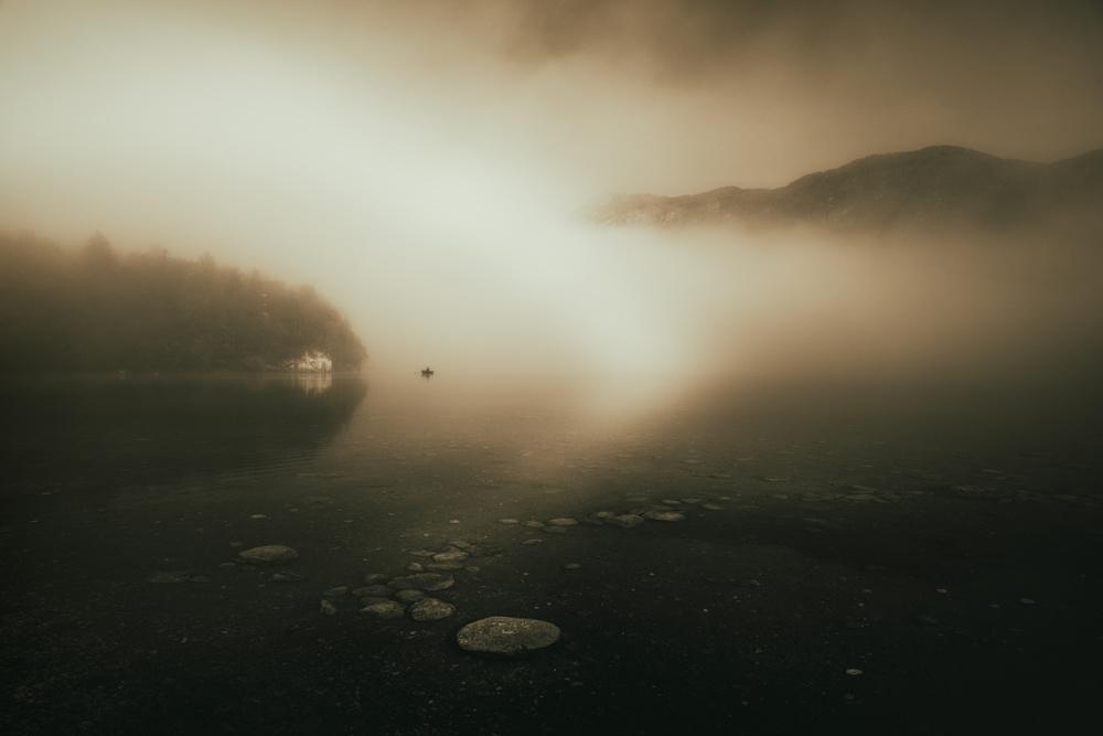 A piece of fine art art photography titled Falling Light by Kristijan Keretic