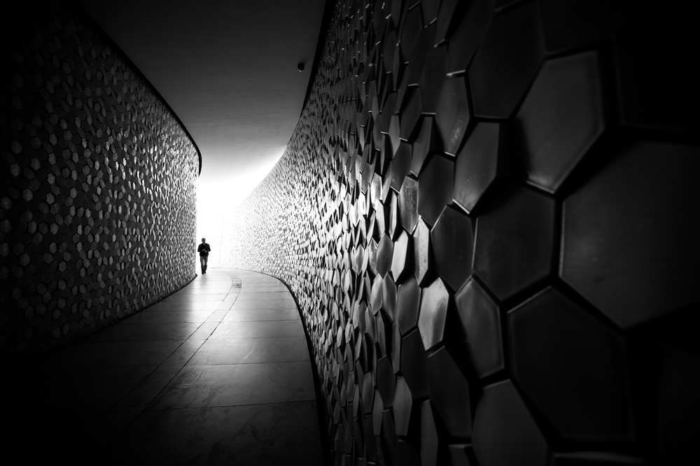 A piece of fine art art photography titled Coming from the Light by Nelson Gonçalves