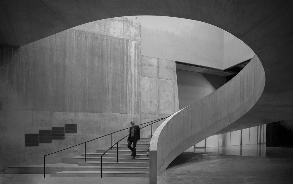 A piece of fine art art photography titled Staircase Tate Modern by Inge Schuster