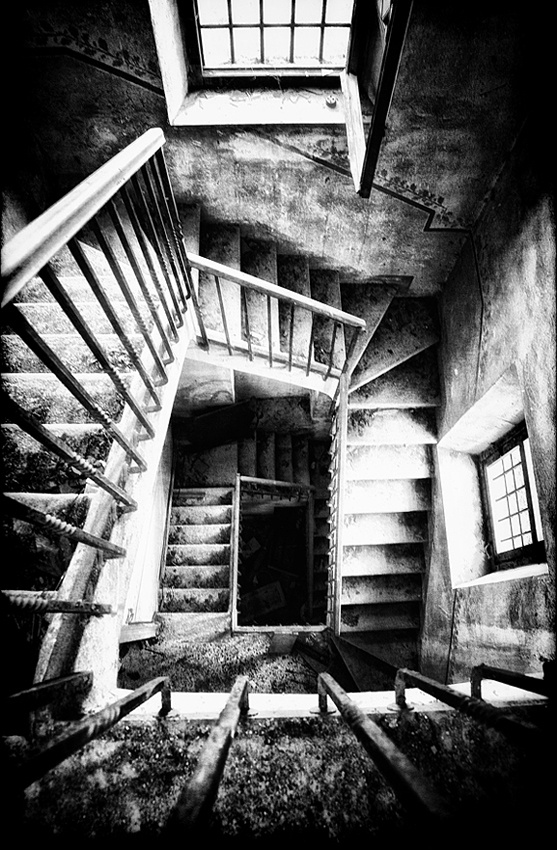 A piece of fine art art photography titled Stairway to Nowhere by Fabio Ornago