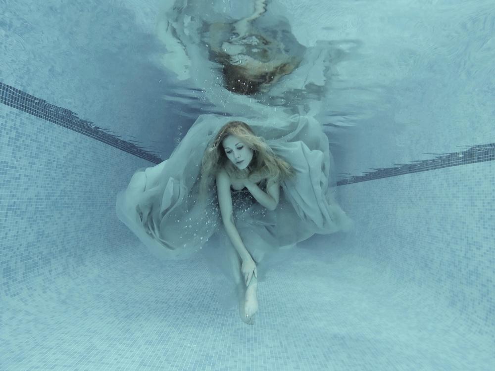 A piece of fine art art photography titled Into the Blue by Karen Jones