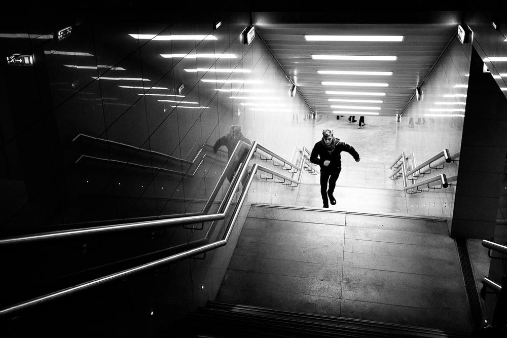 A piece of fine art art photography titled Run! by Pierre Pichot