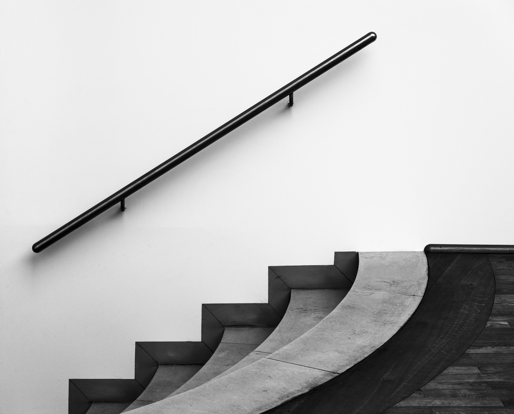 A piece of fine art art photography titled Playing With Lines by minimalist