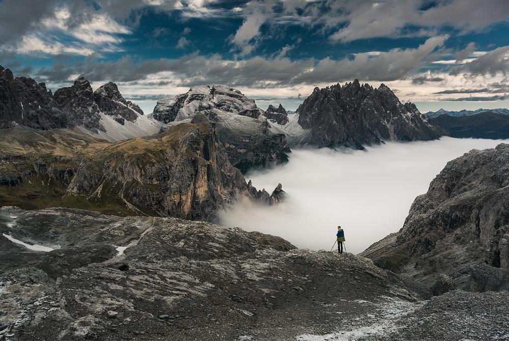 A piece of fine art art photography titled Dolomiti by Karol Nienartowicz