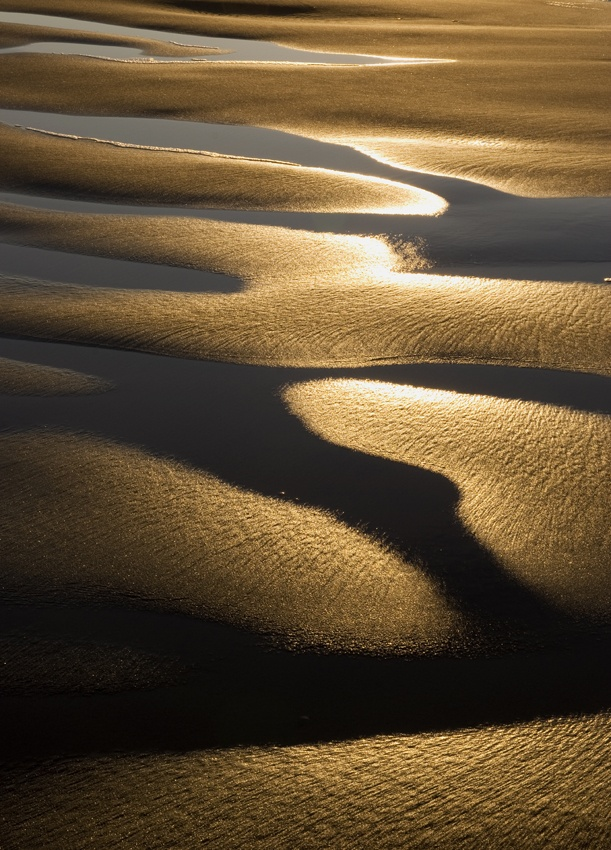 A piece of fine art art photography titled Water and Sand by Anders Vestergaard