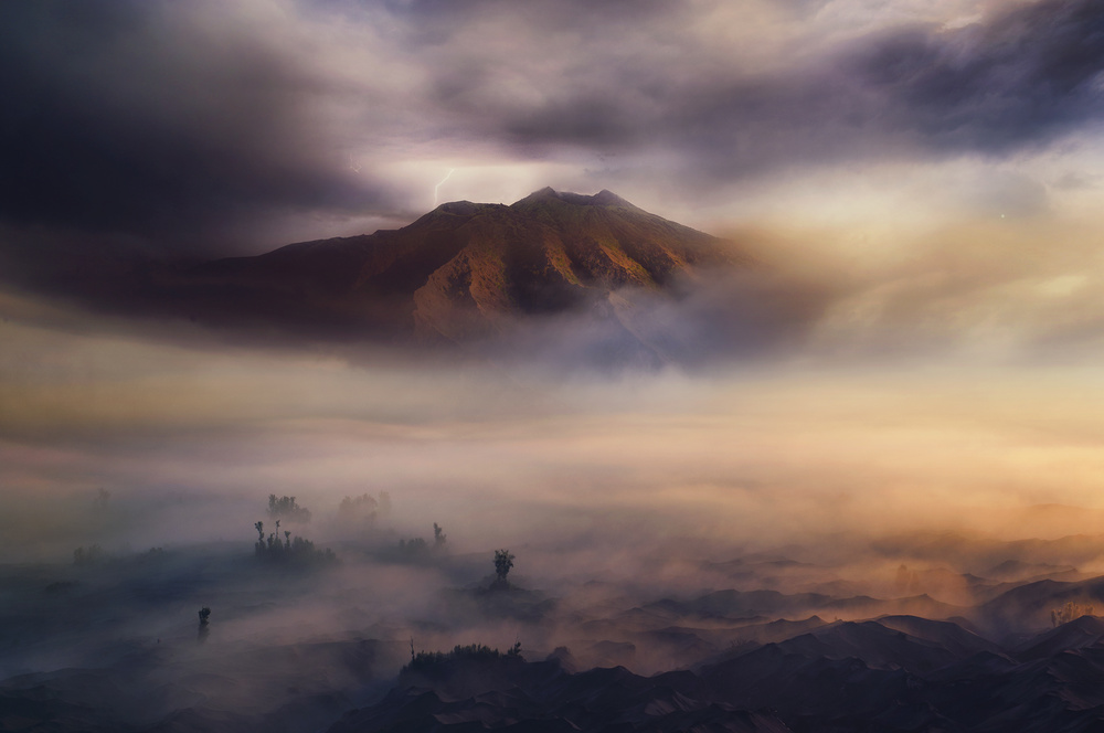 A piece of fine art art photography titled Land of Fog III by rudi gunawan