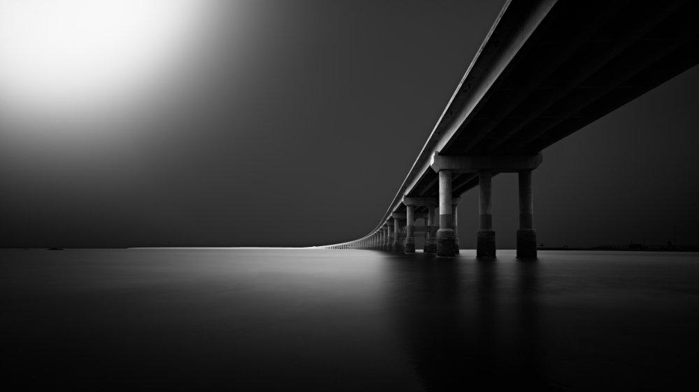 View this piece of fine art photography titled Jinzhou baisha bay bridge by zhaoqi
