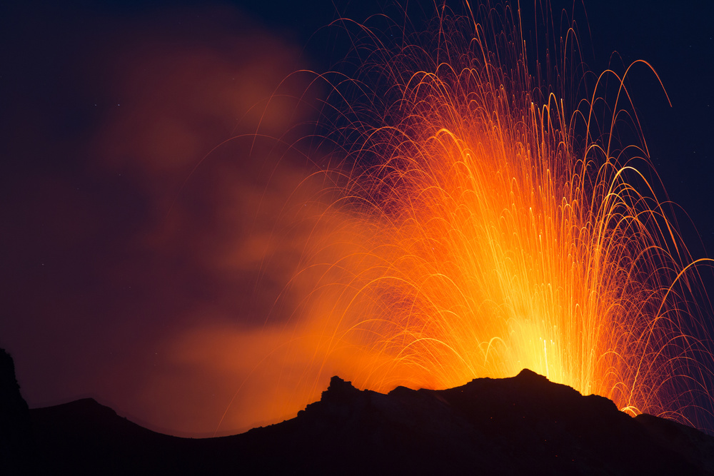 A piece of fine art art photography titled Stromboli Volcano 2 by jorge llovet