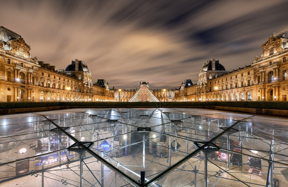 A piece of fine art art photography titled Louvre Museum by Sébastien GABORIT