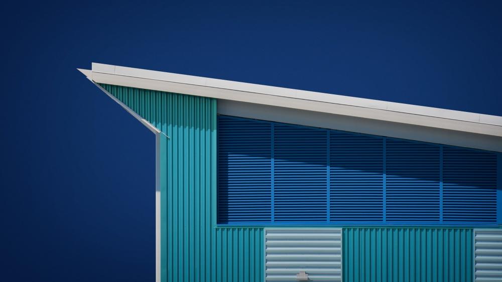 A piece of fine art art photography titled Rhapsody In Blue by Mathilde Guillemot
