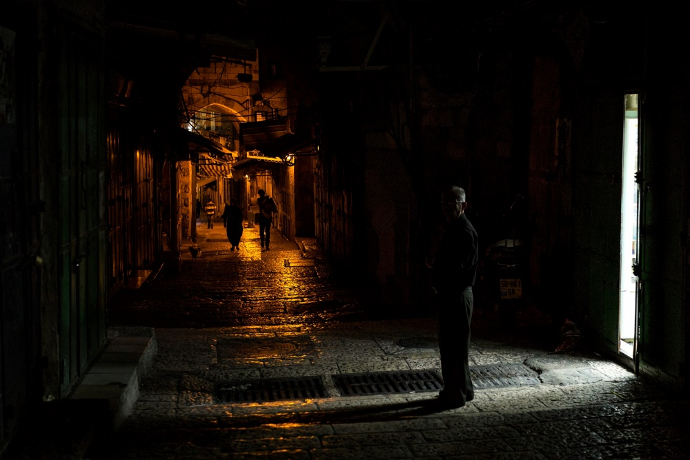 A piece of fine art art photography titled Lurking In Shadows by Igal Pronin