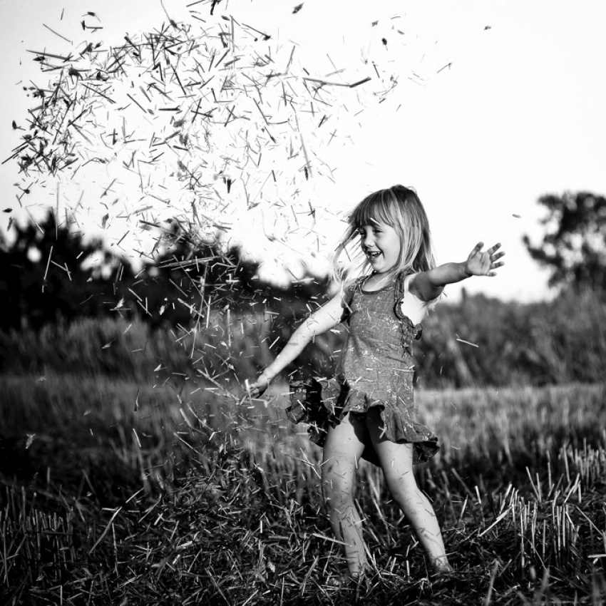 A piece of fine art art photography titled Pure Joy by Magda Berny