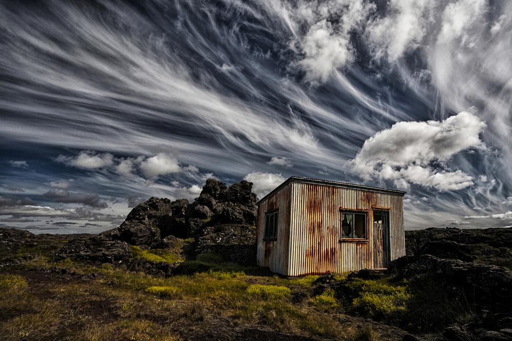 A piece of fine art art photography titled Broken Shack by Þorsteinn H. Ingibergsson
