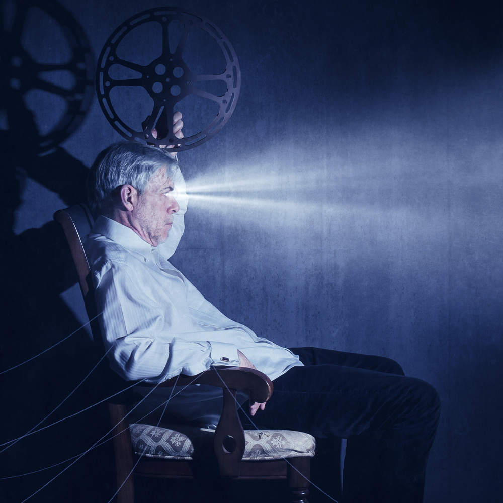 A piece of fine art art photography titled The Projection Room by Michael Bilotta