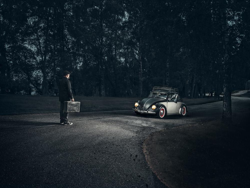 A piece of fine art art photography titled Encounter by Petri Damstén