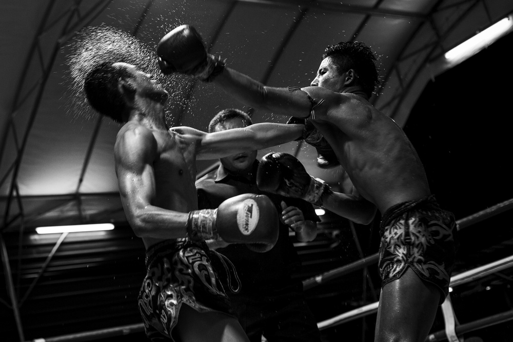 A piece of fine art art photography titled Thai Fight by Daniel Rodrigues