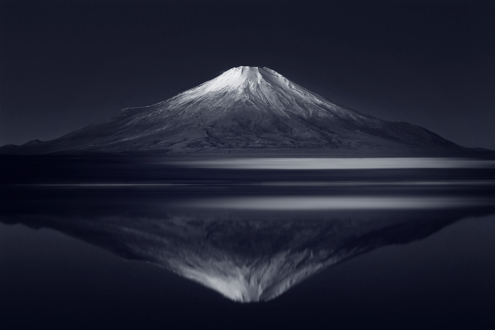 A piece of fine art art photography titled Reflection Mt Fuji by Takashi Suzuki