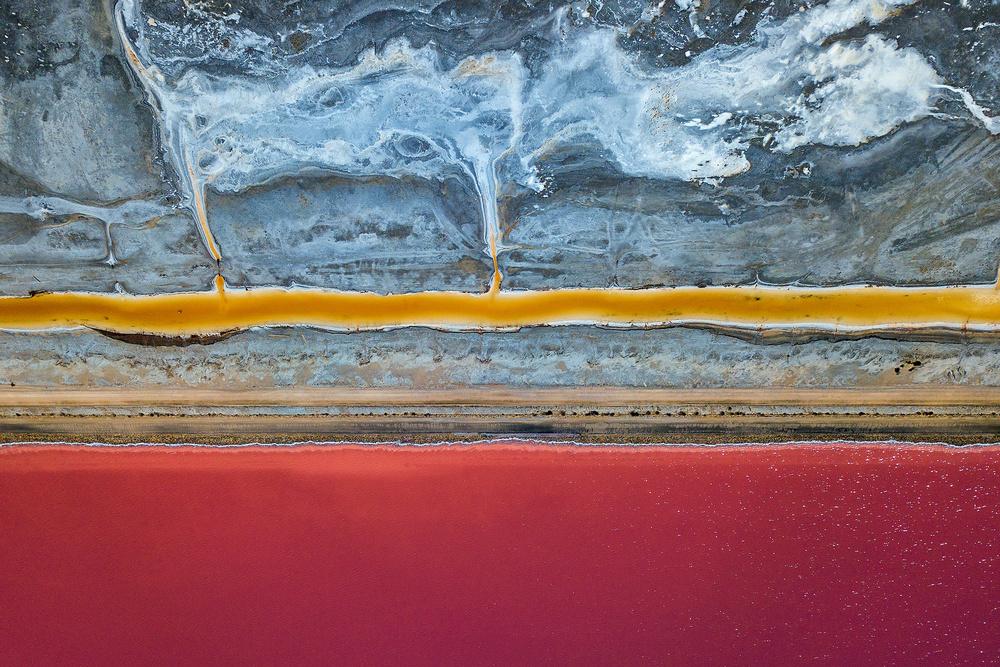 A piece of fine art art photography titled Salt Pans by Jure Kravanja