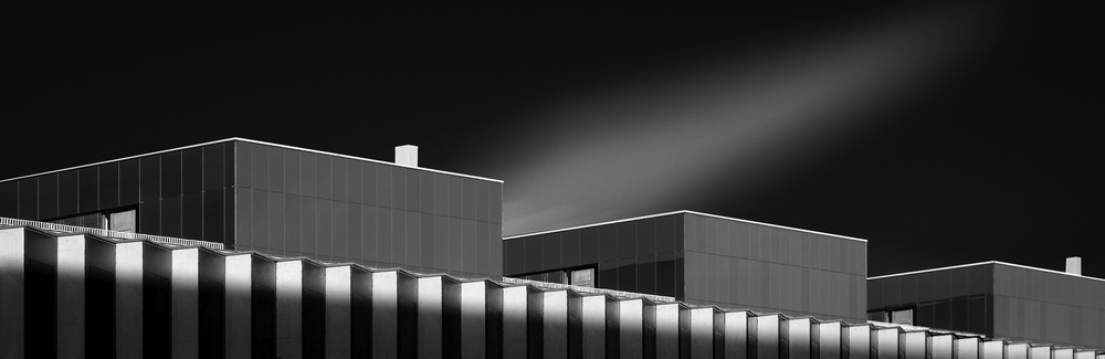 A piece of fine art art photography titled Building In Berne Switzerland by Serge Mion