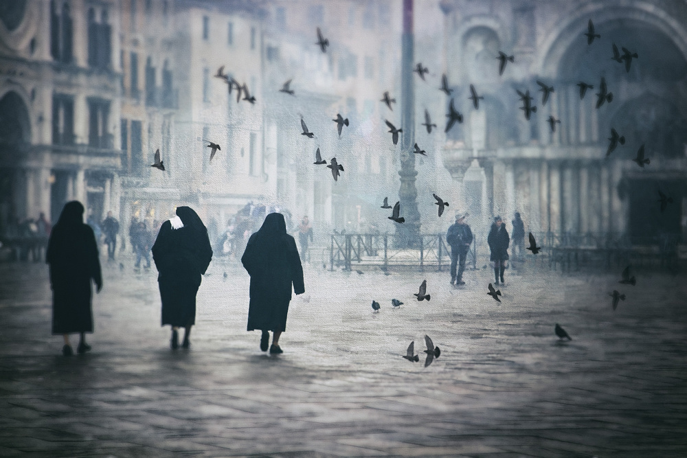 A piece of fine art art photography titled A Winter Afternoon In Venice by Ildiko Kardos