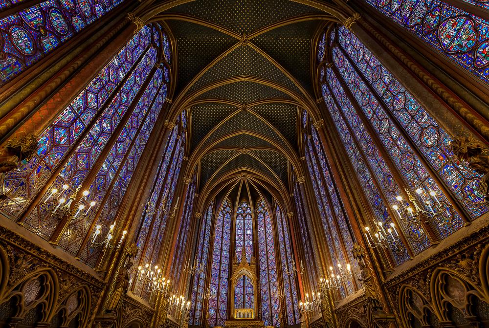 A piece of fine art art photography titled Sainte Chapelle In Paris by Frédéric MONIN